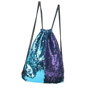 New Women Sequins Daypacks Bling Bling Bag For Beach Mermaid Drawstring Bag