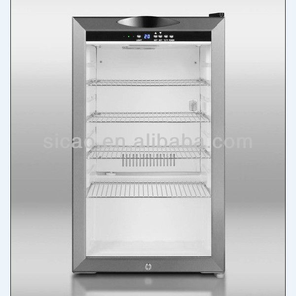 93l Display Cooler Fridge Stainless Steel Door Frame With Glass Cake Single Slim