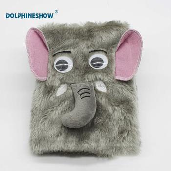 книжка раскраска для детей милые животные слон плюшевые игрушки пушистый чехол карманный блокнот Buy слон плюшевая игрушка бархатные