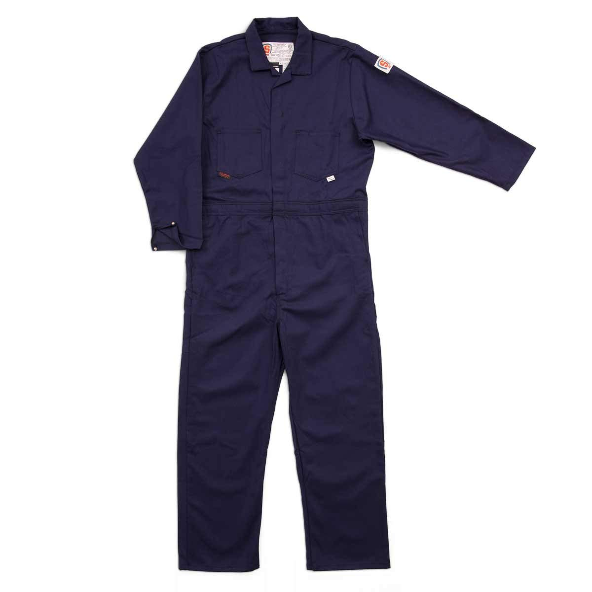 c2930a702c89 Get Quotations · Stanco Safety Products X-Large Navy Blue 7.5 oz  Lightweight Cotton Flame Resistant Full Featured