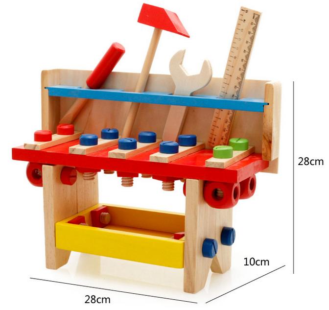 Neues Hölzernes Werkzeug Scherzt Pädagogisches Hölzernes Spielzeug Der  Hölzernen Werkbank - Buy Pädagogisches Hölzernes Spielzeug,Holz ...