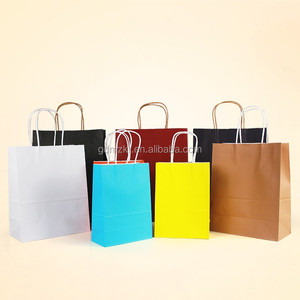 Wholesale China factory 1000 pcs small kraft paper bag with handle