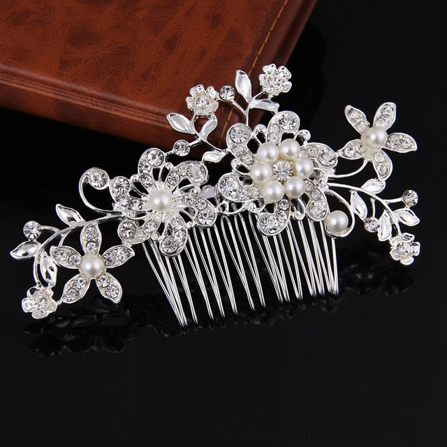 Bridal accessories set feather jewelry hair comb wedding hair accessories