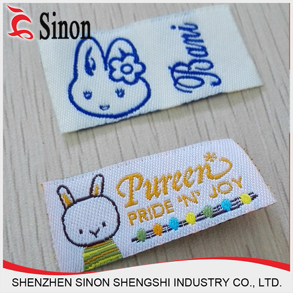 OEM fashion high-density nylon/cotton care labal for clothing