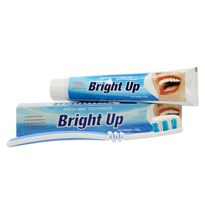 China SupplierBright Up Brand Name White Cream Mint Flavor Toothpaste 150g