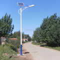 Economic solar LED street lighting with pole