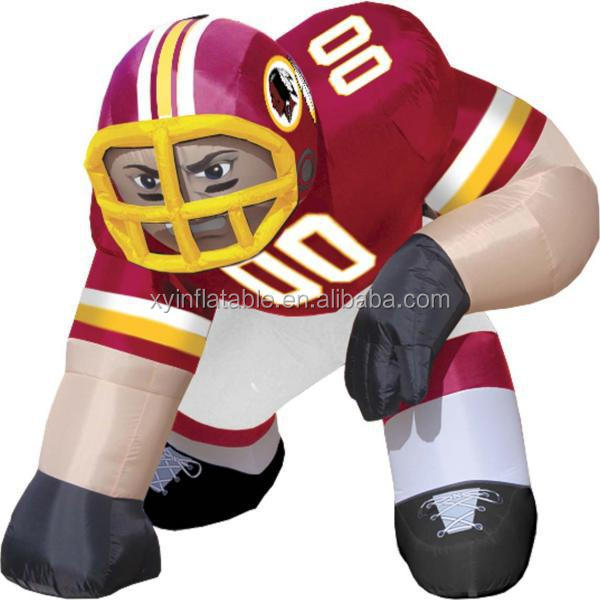 Hot sale custom giant nfl inflatable player lawn figure for sale
