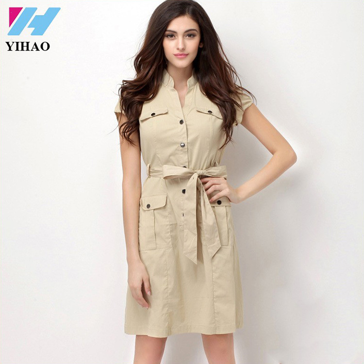 Yihao Femme Dernières Casual Office Lady Moulante Formelle Designer Robe