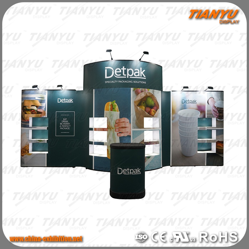 Exhibition Booth Backdrop : Exhibition booth trade show display stand pop up display backdrop