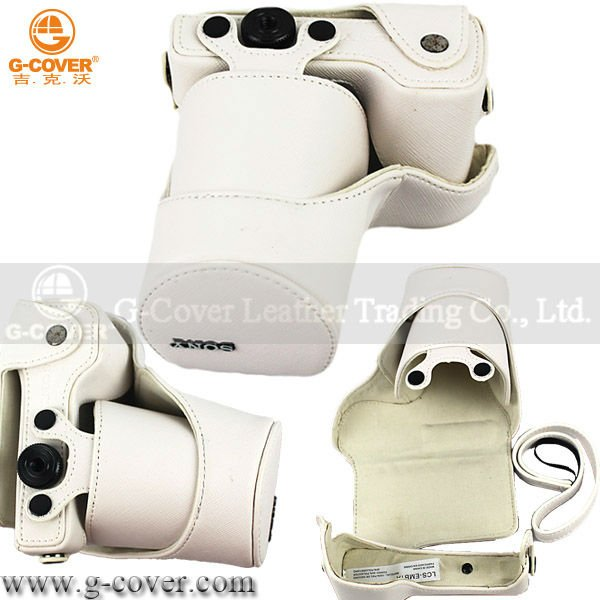 PU leather digital camera bag PU leather camera case
