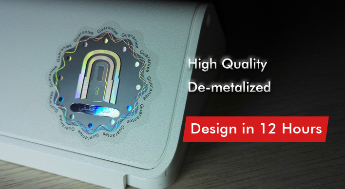 Shiny Custom 3D Self Adhesive Hologram Sticker