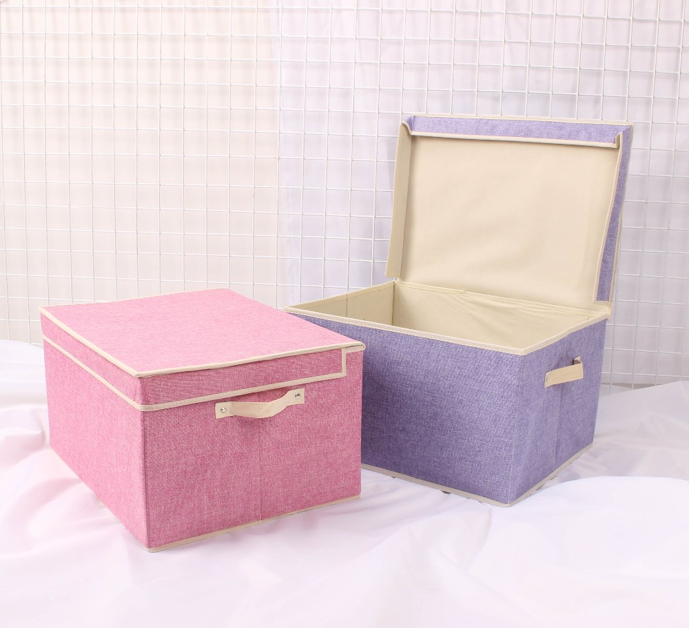 Mise Custom Cube Linen Fabric Storage Boxes Folding