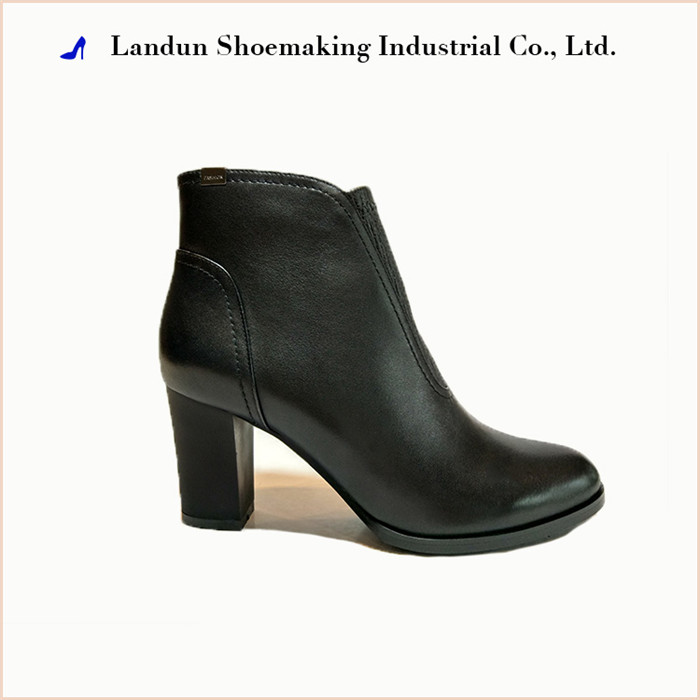 Black / Brown / Red genuine leather women shoes elegant ankle boots