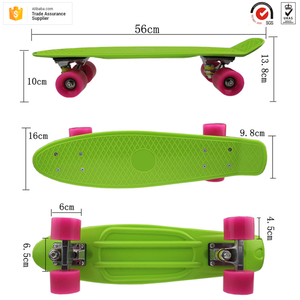 New style design China factory professional manufacture kid PP Mini Plastic skateboard cruiser skateboard
