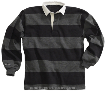 98fce1050ff3 Classic 4  quot  Striped Long Sleeve Men s American Style Rugby Polo Shirts   Custom Heavy