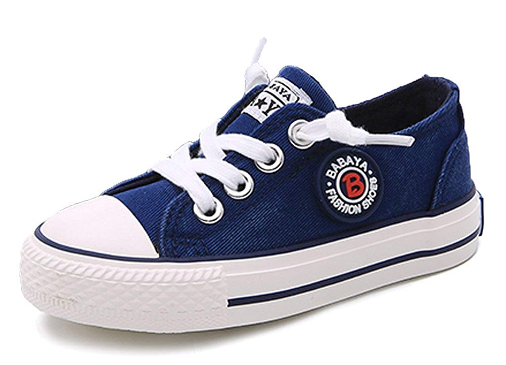 iDuoDuo Boys Girls Classic Twill School Board Shoes Low Top Casual Canvas Shoes Sneakers (Toddler/Little Kid/Big Kid)