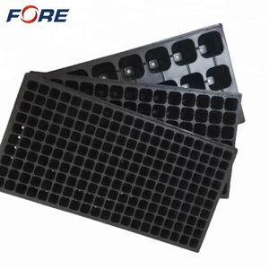 Garden Germination Seed Starter Tray, Polystyrene PS Plastic Rice Seedling Tray, Nursery Plug Flower Pot Sprout Plant Grow Tray