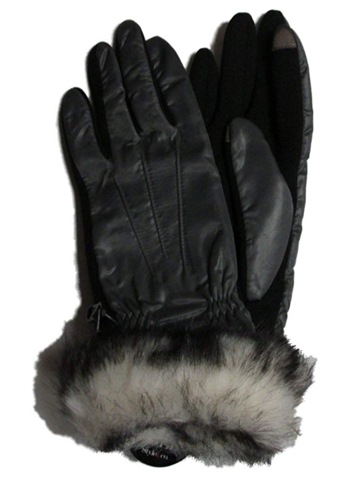 dfcc9ee1696 Get Quotations · Style   Co Women s Touch Screen Faux Fur Trim Gloves ...