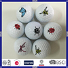China made custom print cheap gift golf ball