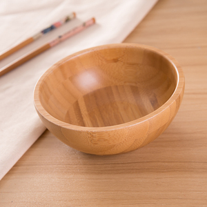 Solid beech wooden fruit bowl salad bowl for dinner dinnerware set