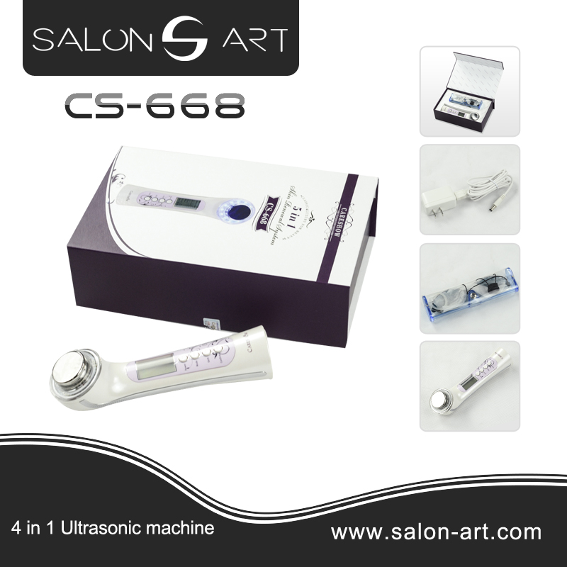 Ultrasonic eye & face care massager device with 3 color light CS-668