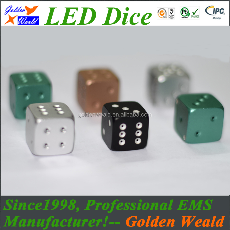 Blue Led Dice Motion Activated Electronic With Light Suppliers And Manufacturers 980x980