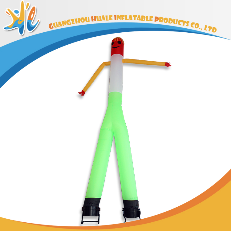 Green Color Double Legs Inflatable Air Dancer With Blower