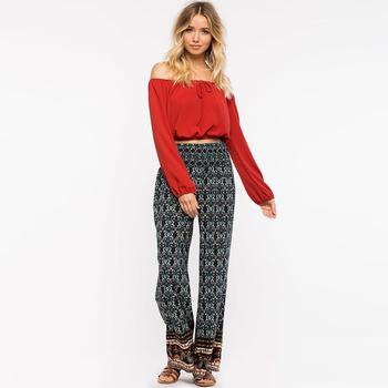 de9f37d8 Proveedor Alibaba personalizar las mujeres pantalones floral print harem