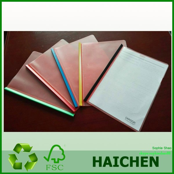 L shaped file/plastic clear file folder with ring binder