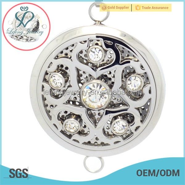 Stainless steel aroma diffuser pendant locket,hollow stainless steel aromatherapy locket jewelry
