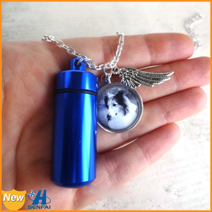 New design high quality Remembrance cremation pet urn necklace pendant