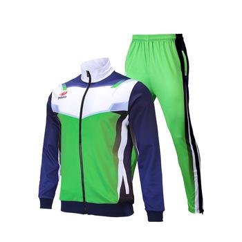 782038f60 New green custom sublimation printing soccer school uniform tracksuits