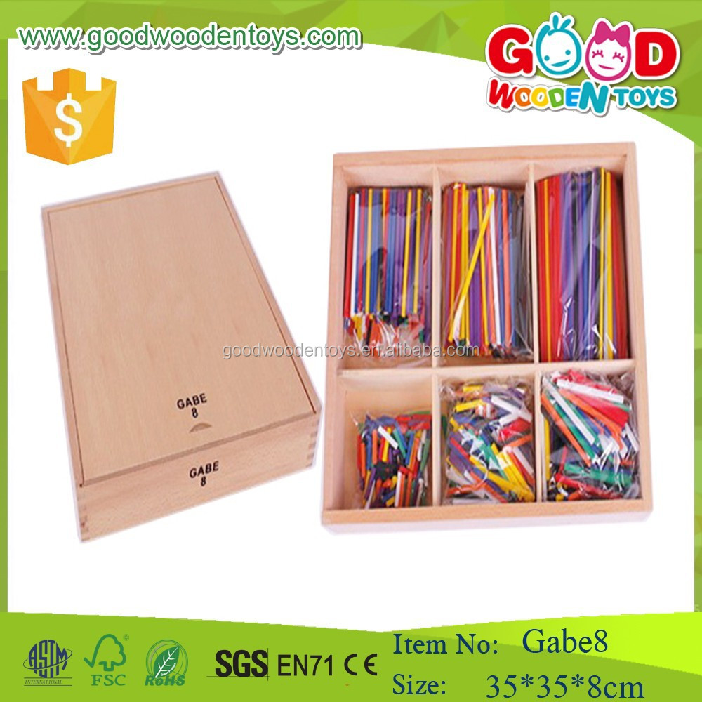 High Quality Cheap Price Wooden Sticks Toys Gabe 8 Froebel Gift Gabe