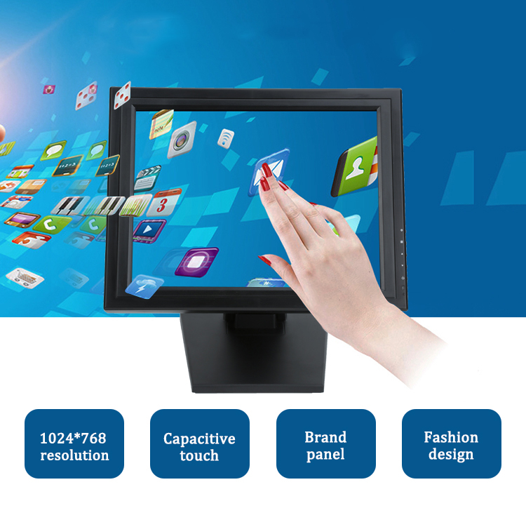 1503M  1703M 15 inch LCD 5 Wire Resistive wall mounted  Touch Screen pos Monitor