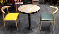 Modern round bar restaurant table and chair