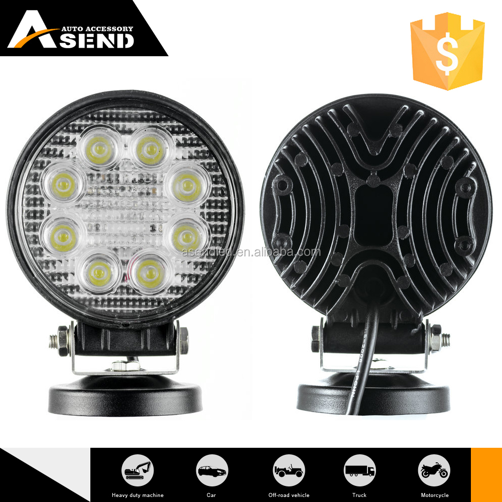 4'' led work downlight led work light round 24w for auto motorbikes
