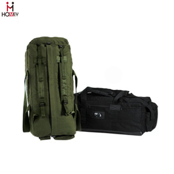 Factory Customize Polyester Canvas Waterproof Military Duffle Backpack Bag 6adb9cb5dae