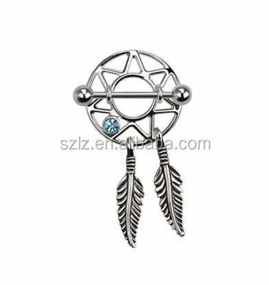 Standard 14 Gauge dream catcher nipple rings