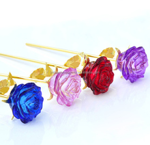 cheape nice valentine's day holiday crystal rose flower wedding gifts