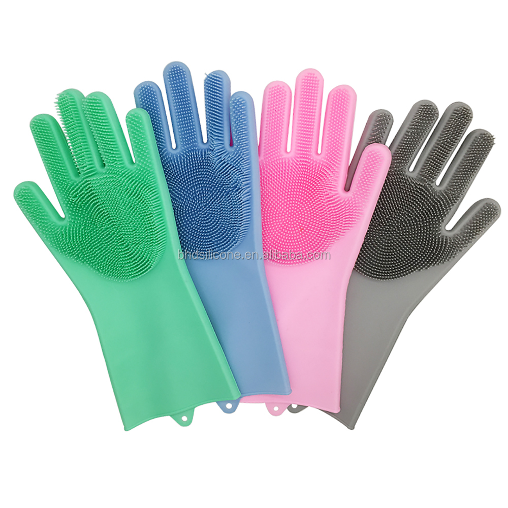 Luvas de lavagem limpas do agregado familiar do produto comestível com purificador da escova