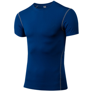 Men's Tight Fitness Sportswear Elasticity Quick Dry GYM T-Shirt