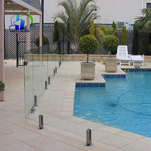 Australian standard cut to size clear 12mm toughened glass pool fence panel