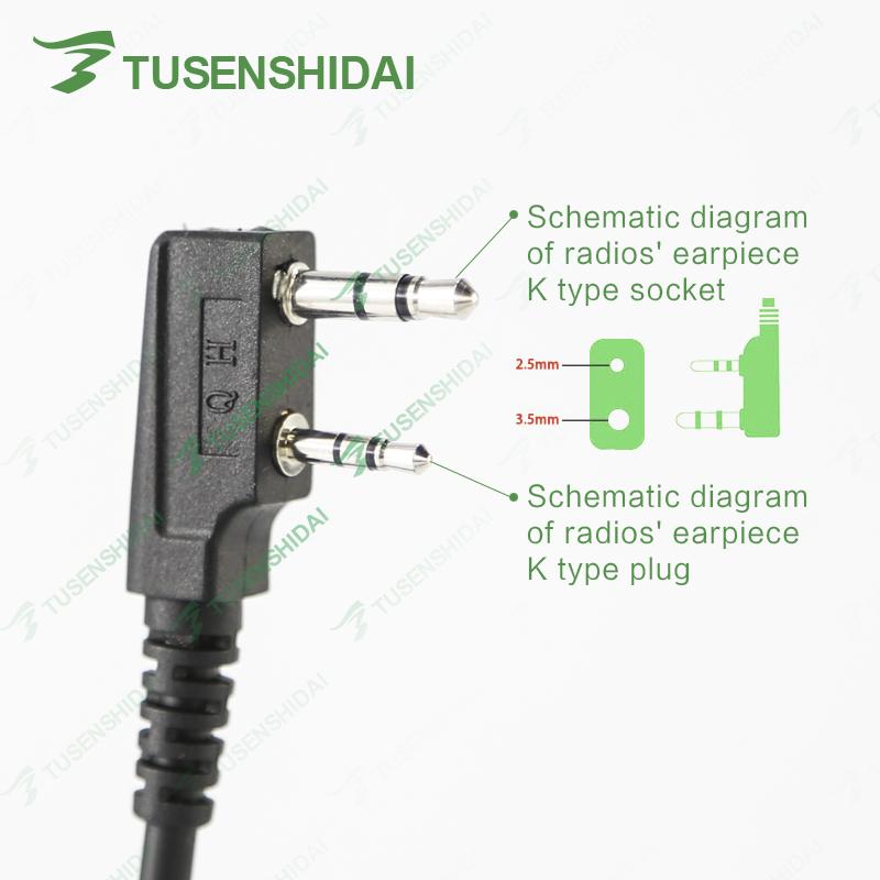 shoulder speaker handy mic for radio tssd st-25l baofeng/tyt