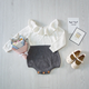 KS10267A Frill collar knitted design baby romper funny baby clothes 0-24 month