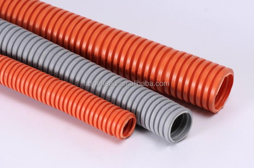 British mm orange pvc flexible corrugated electrical