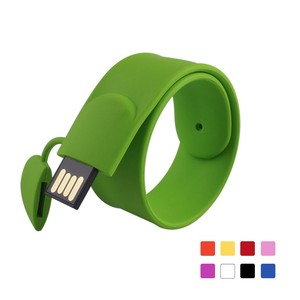 Bulk price custom logo pulsera usb stick 2.0 free sample 1GB 2GB 4GB