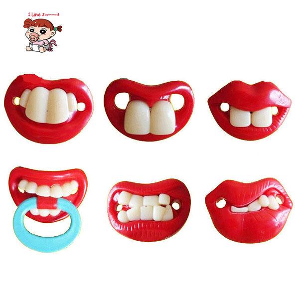 Baby Funny Buck Teeth Pacifier Rabbit Teeth Halloween Infant Bearded Ultra-soft Silicone Sleep Nipple Teether Pacifiers Care