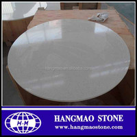 Precut polished round crystal white quartz stone table top