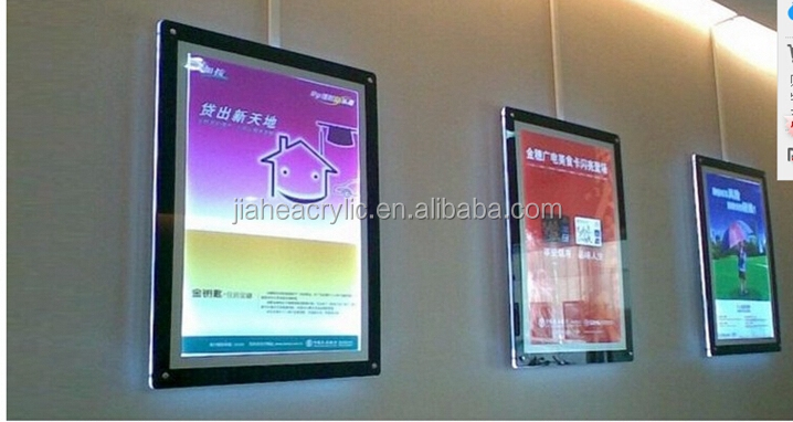 wall mounted frame perspex Light Box Wall-mounted plexiglass LED Light backlit Display picture frame for advertising