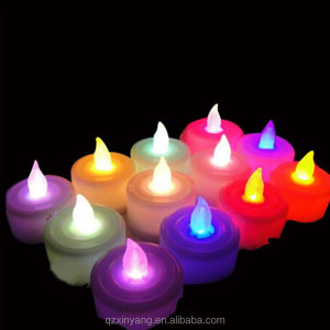 Wholesale Color Changing Plastic Glow Led Tea Light Flameless Candle